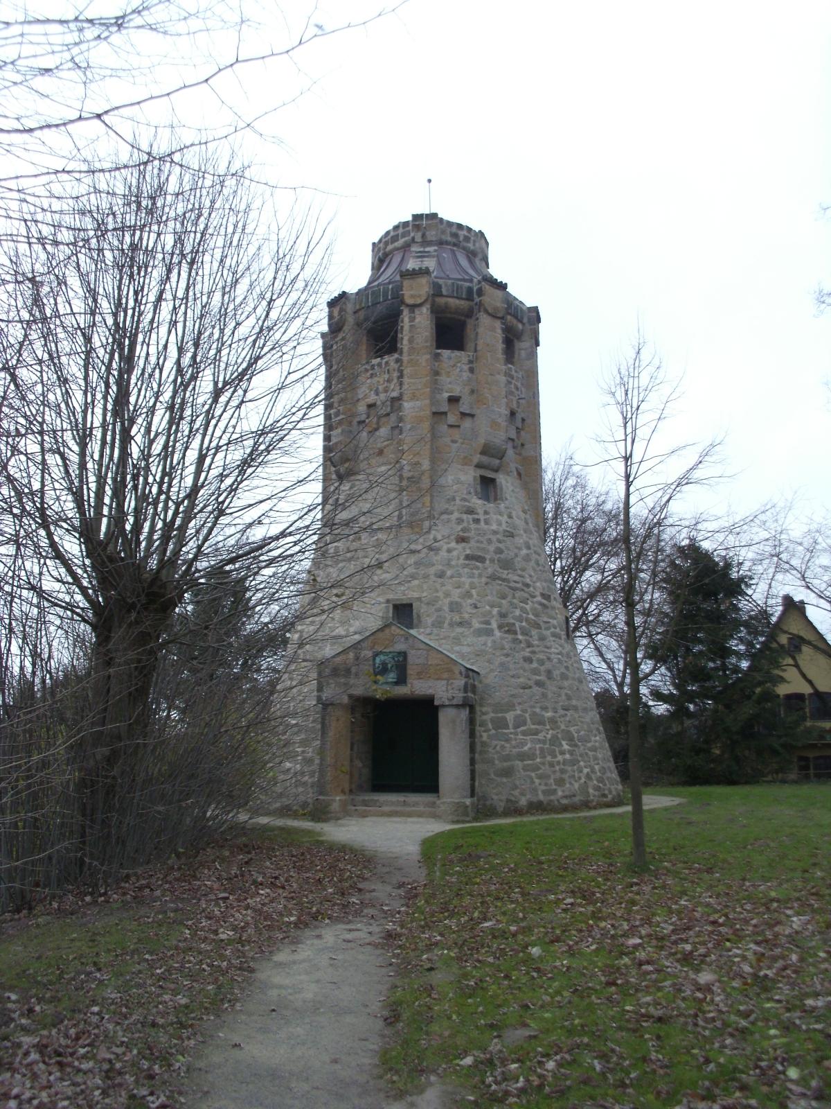 """Tecklenburg, Bismarckturm, A6 """"Durch Wald undFlur"""""""