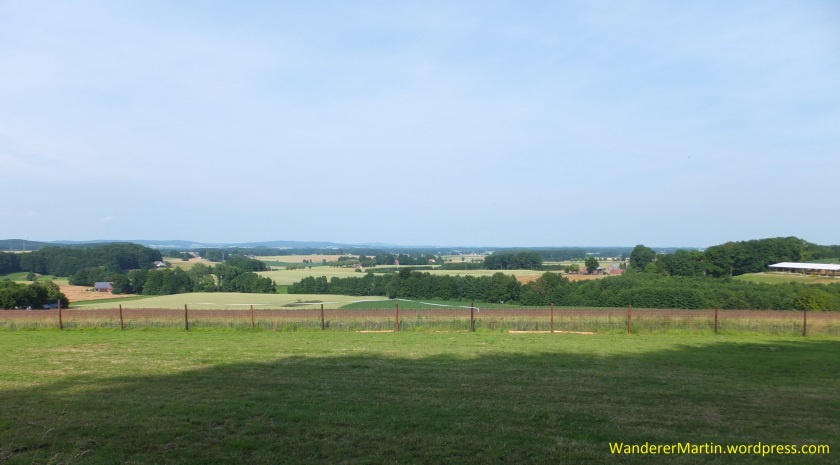 Blick über die Eppendorfer Auheide mit ihrer Streubesiedlung