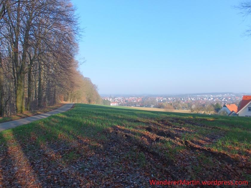 Morgendliche Blick vom Blotenberg auf Werther