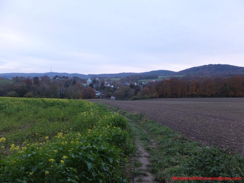 Blick auf das herbstliche Kirchdornberg