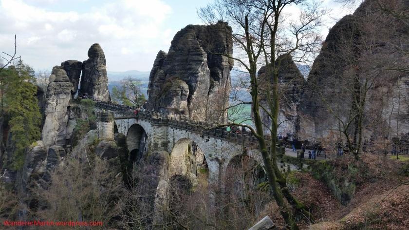 Die Basteibrücke am 1.4.2016