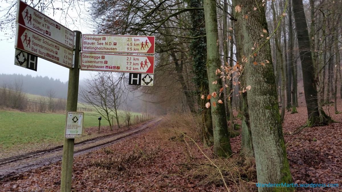 """Wellingholzhausen, Ortsmitte, Ahornweg, Route 5 """"Wellingholzhausen – Dissen (Noller Schlucht) – Hilter – Bad Rothenfelde"""""""