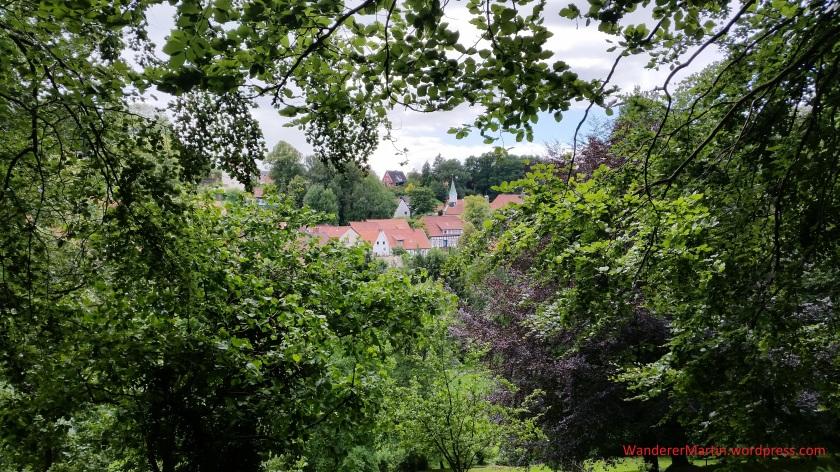 Blick über den Kurpark auf Tecklenburg 20180622_153820